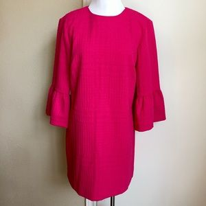 NWT Zara Hot Pink Dress with Frilled Sleeves